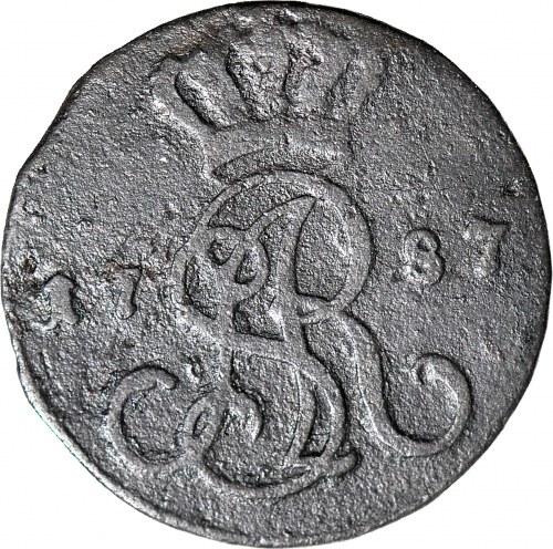 RR-, Stanisław A. Poniatowski, Grosz 1787 EB, GROSZ Z MIEDZI KRAIOWEY