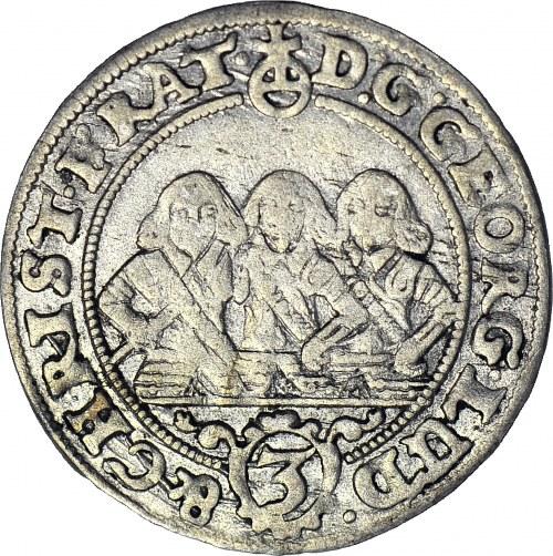 RR-, Śląsk, 3 krajcary 1657, Brzeg, b. rzadkie