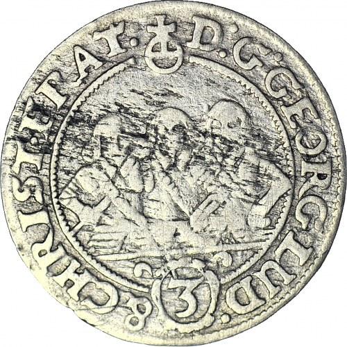 RR-, Śląsk, 3 krajcary 1659, Brzeg, NAJRZADSZY ROCZNIK
