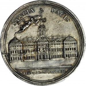 R-, Śląsk, Medal 1763r. srebro 45 mm, Oexlein, z okazji końca trzeciej siedmioletniej wojny o Śląsk