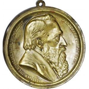 Józef Ignacy Kraszewski, Medalion 1880, Warszawa A. Pruszyński, 26cm, piękny