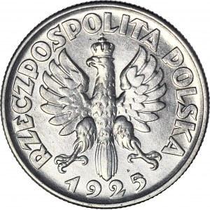 2 złote 1925, Żniwiarka, bez kropki, Filadelfia, mennicza