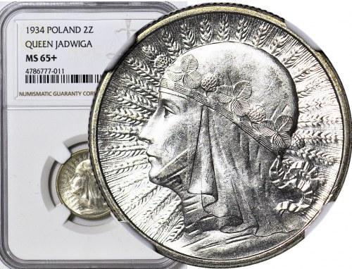2 złote 1934, Głowa, WYŚMIENITE