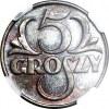 5 groszy 1935, mennicze, kolor BN