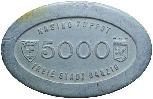 R-, Wolne Miasto Gdańsk, Kasyno Sopot, 5 000 guldenów, bardzo rzadkie