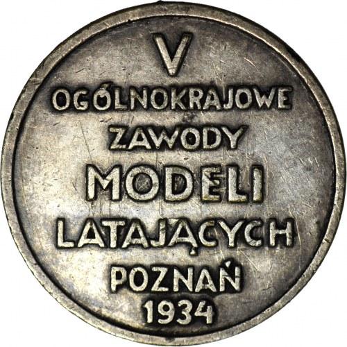 Medal, LOPP - V Ogólnokrajowe Zawody Modeli Latających Poznań 1934