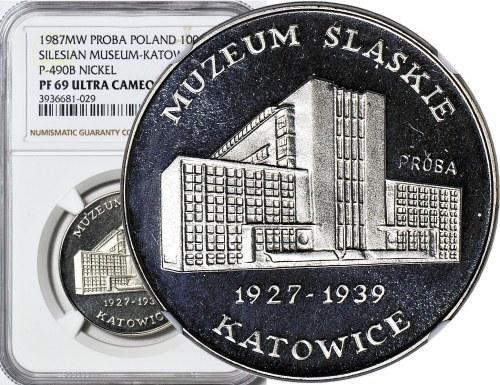 1000 złotych 1987, Muzeum Śląskie - Katowice, PRÓBA, nikiel