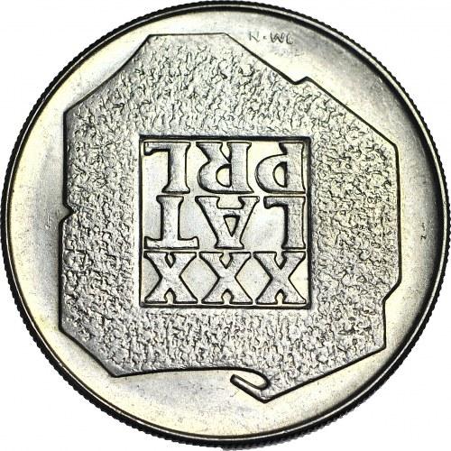 R-, 200 Złotych 1974, XXX LAT PRL, odwrotka 180 stopni