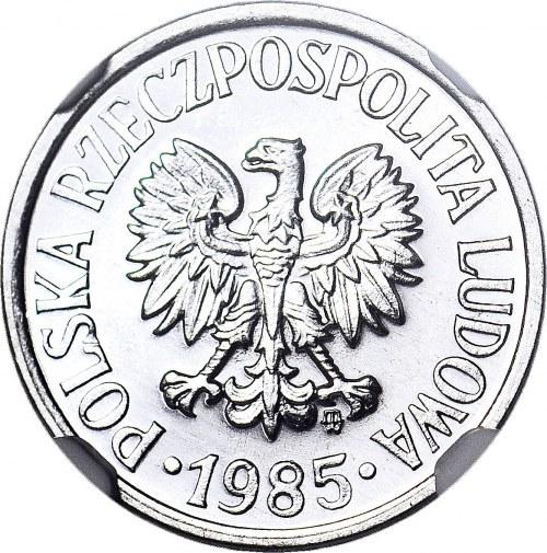RRR-, 10 groszy 1985, PROOFLIKE, JEDYNA ZNANE W PROOFLIKE