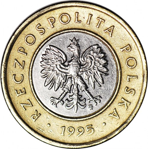 RR-, 2 złote 1995, DESTRUKT, ODWROTKA 180 stopni