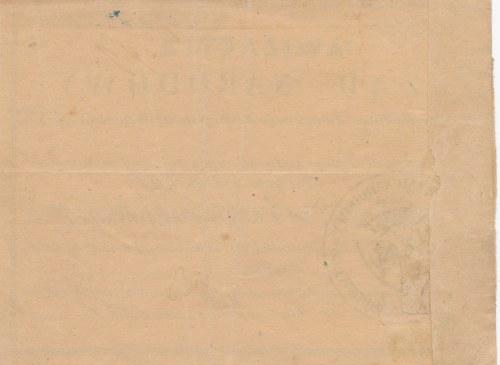 RR-, Powstanie Styczniowe 1864, Rząd Narodowy, Awizacyja 15 złotych