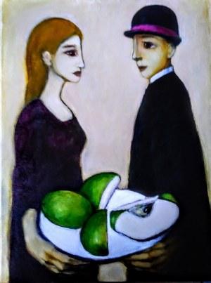 Miro Biały, Zielone jabłuszko przekrojone na krzyż, 2019
