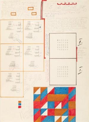 Jerzy GRABOWSKI, Rysunek 8/IV, Studium cyfry 9, 1986