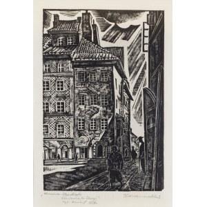 Kazimierz WISZNIEWSKI (1894 - 1960), Warszawa. Stare Miasto. Kamienica ks. Skargi, 1936