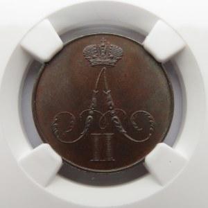 Aleksander II, 1 kopiejka 1859 B.M., Warszawa, NGC MS65BN !!!!! Rewelacja