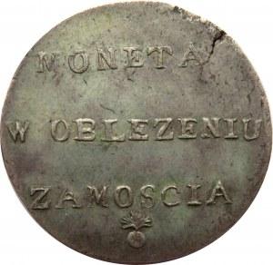 Oblężenie Zamościa, 2 złote 1813, Zamość, piękne i rzadkie!!!