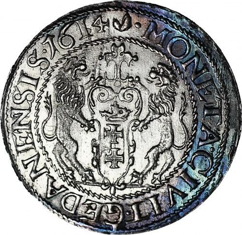 RR-, Zygmunt III Waza, Ort 1614, Gdańsk, duża 1 mała 4 w dacie, R5
