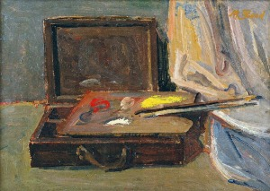 Maurycy BLOND (1899-1974), Martwa natura z paletą i kasetą malarską