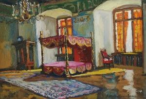 Anna MAŚLAKIEWICZ-BRZOZOWSKA (1912-1986), Sypialnia Zygmunta Starego w Zamku Królewskim na Wawelu