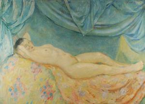 Tadeusz SZEWCZYK BARWECKI (1912-1999), Akt leżącej kobiety, 1938