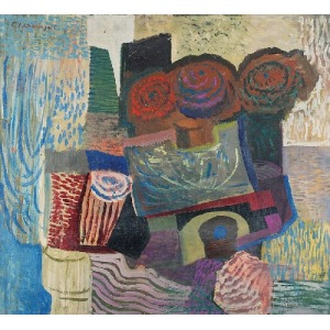 CZESŁAW SADOWSKI (1902-1959), Martwa natura z kwiatami