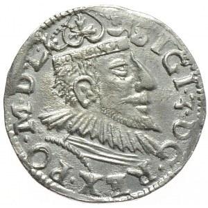 Zygmunt III Waza, trojak 1593, Poznań, wydłużona twarz króla