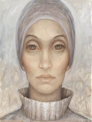 Iza Staręga, Bez tytułu z cyklu Kobiety w chustach, mężczyźni w hełmach, 201
