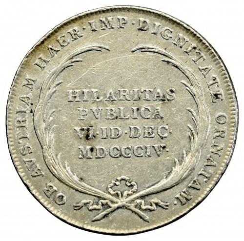 Austria, Franz II, jeton 1804 Hilaritas publica