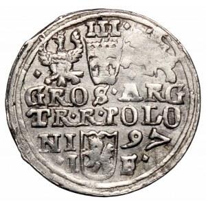 Zygmunt III Waza, Trojak 1597, Olkusz - POLONI