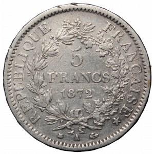 France, 5 francs 1872