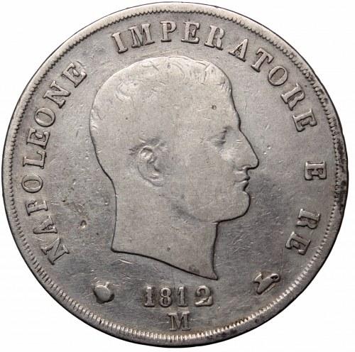 Italy under Napoleon, 5 lire 1812 M