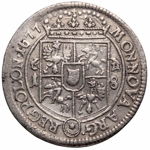 Jan III Sobieski, Ort 1677, Bydgoszcz - M-H na ozdobnikach