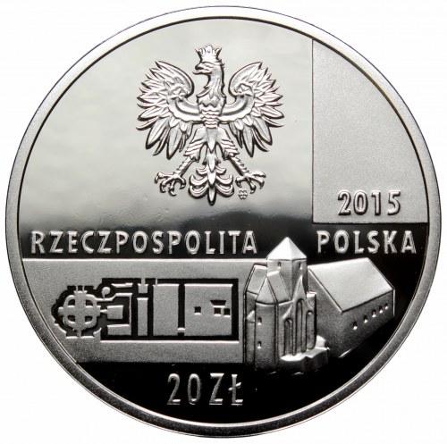 III RP, 20 złotych 2015 Zabytki Kultury w Polsce Relikty budowli pałacowo-sakralnej na Ostrowie Lednickim