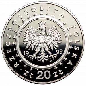 III RP, 20 złotych 1999 Pałac Potockich Radzyń Podlaski