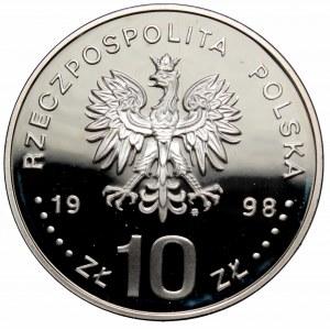 III RP, 10 złotych 1998 gen. bryg. August Emil Fieldorf Nil