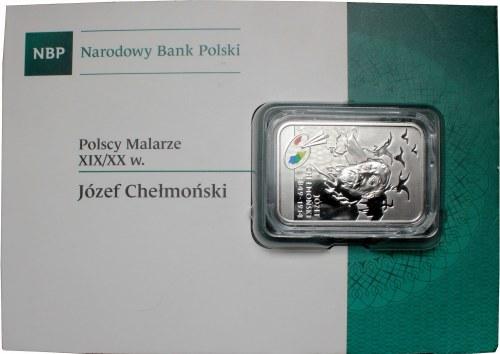 III RP, 20 złotych 2014 Józef Chełmoński w holderze emisyjnym