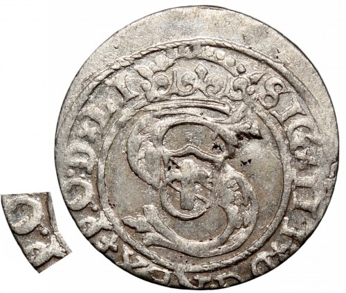 Zygmunt III Waza, Szeląg 1598, Ryga - P.O