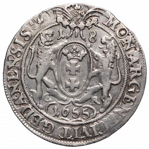 Jan II Kazimierz, Ort 1655, Gdańsk - listek na końcu legendy