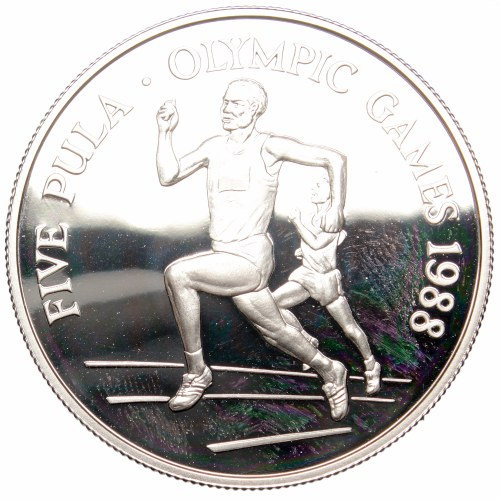 Botswana, 5 pula 1988, silver