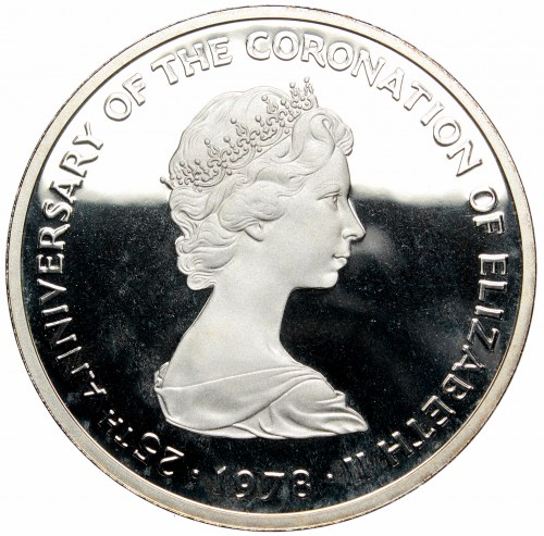 Turks and Caicos Islands, 25 crowns 1978, srebro