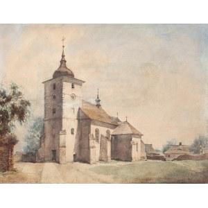 Walery Eljasz-Radzikowski (1841 Kraków – 1905 tamże), Kościół w Skawinie, 1867 r.