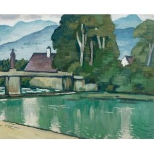 Berthold Hellingrath (1877 Elbląg - 1954 Hannover), Pejzaż z mostem