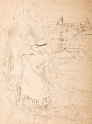 Jan Cybis (1897 Wróblin - 1972 Warszawa), W ogrodzie, lata 30. XX wieku