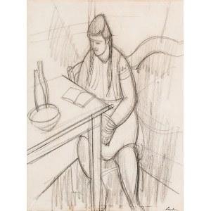 Zygmunt Landau (1898 Łódż - 1962 Tel Aviv), Kobieta przy stole