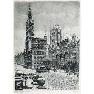 Paul Kreisel (1891 Gdańsk - 1956), Widok na ratusz w Gdańsku