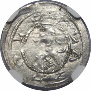 Bolesław IV Kędzierzawy, Denar - Trzech za stołem - odmiana
