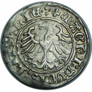 Zygmunt I Stary, Półgrosz 1510, Wilno – duże zero w dacie, czterokropek