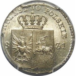 Powstanie Listopadowe, 10 groszy 1831 – łapy Orła proste – piękna
