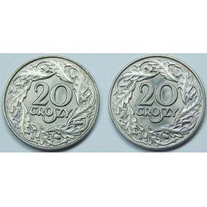 20 groszy 1923 zestaw 2 sztuk