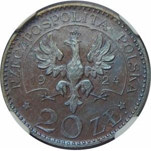 PRÓBA 20 złotych Monogramy 1924